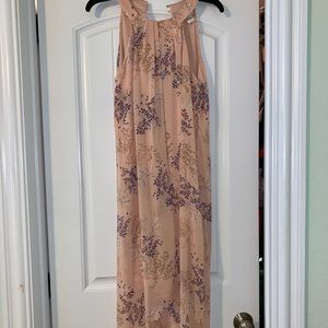 Mid-length Light Pink Hi-lo Dress